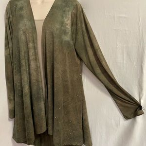 Size S Vocal olive tie dyed open front jacket